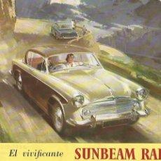 Coches y Motocicletas: SUNBEAM RAPIER 2 DOOR SALOON CATÁLOGO 12 PÁGINAS ESPAÑOL PARA ISLAS CANARIAS 1956, PRIMERA VERSIÓN. Lote 173516215