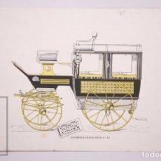 Coches y Motocicletas: ANTIGUO CATÁLOGO CENTRO DE CONSTRUCCIÓN DE COCHES DE BARCELONA - FINALES S. XIX - COCHES DE CABALLOS. Lote 173627189