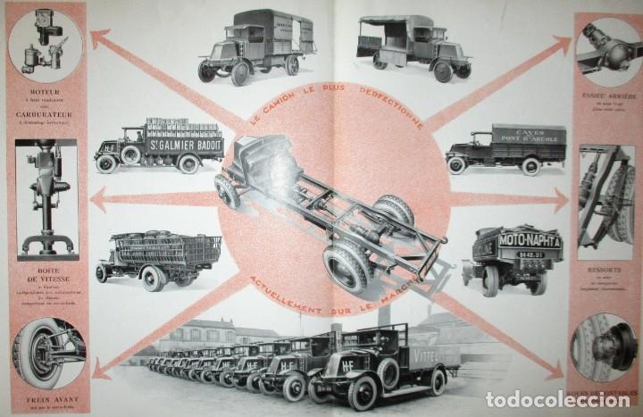 Coches y Motocicletas: CATÁLOGO ORIGINAL DE LOS AÑOS 20 DE CAMIONES RENAULT DE CINCO TONELADAS. - Foto 4 - 173672218
