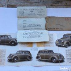 Coches y Motocicletas: CARTA CORRESPONDENCIA THE AUSTIN MOTOR COMPAY LIMITED AÑO 1945. Lote 173856702