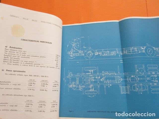 Coches y Motocicletas: LIBRO AUTOBUSES PEGASO 5020 EDICION DE 1961 DATOS TECNICOS CARACTERISTICAS PLANOS UNA JOYA - Foto 6 - 173965844