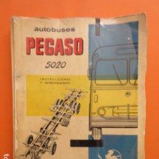 Coches y Motocicletas: LIBRO AUTOBUSES PEGASO 5020 EDICION DE 1961 DATOS TECNICOS CARACTERISTICAS PLANOS UNA JOYA. Lote 173965844