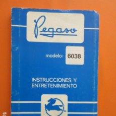 Coches y Motocicletas: LIBRO PEGASO 6038 MARZO 1983 DATOS TECNICOS CARACTERISTICAS PLANO UNA JOYA . Lote 173966299