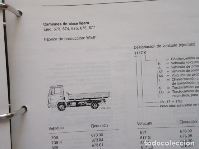 Coches y Motocicletas: MANUAL DE MANTENIMIENTO MERCEDES BENZ INCLUYE MICROFICHAS DIFERENTES MOTORES - Foto 7 - 173968518