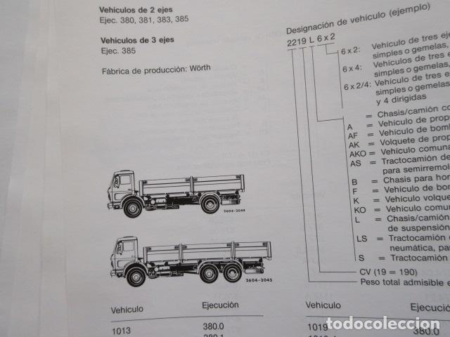 Coches y Motocicletas: MANUAL DE MANTENIMIENTO MERCEDES BENZ INCLUYE MICROFICHAS DIFERENTES MOTORES - Foto 8 - 173968518