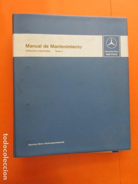 MANUAL DE MANTENIMIENTO MERCEDES BENZ INCLUYE MICROFICHAS DIFERENTES MOTORES (Coches y Motocicletas Antiguas y Clásicas - Catálogos, Publicidad y Libros de mecánica)
