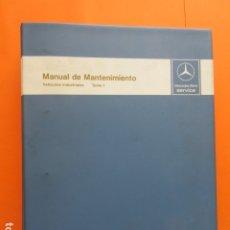 Coches y Motocicletas: MANUAL DE MANTENIMIENTO MERCEDES BENZ INCLUYE MICROFICHAS DIFERENTES MOTORES . Lote 173968518