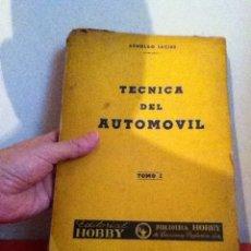 Coches y Motocicletas: TÉCNICA DEL AUTOMÓVIL 1946. ARGENTINA TOMO 1. Lote 174094777