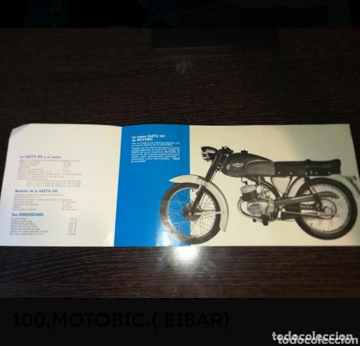 Coches y Motocicletas: ANTIGUO CATALOGO SAETA 100,MOTOBIC.( EIBAR) - Foto 3 - 174194958