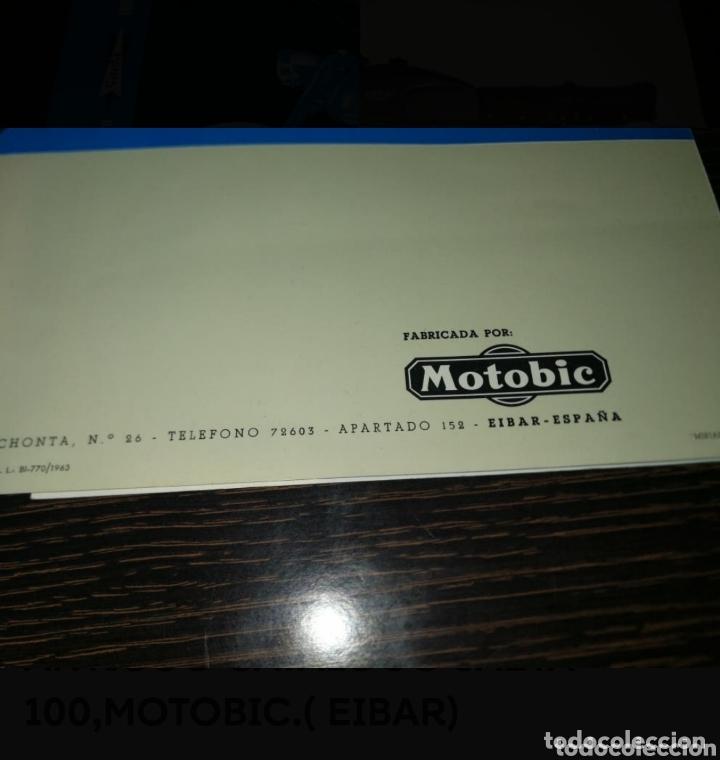 Coches y Motocicletas: ANTIGUO CATALOGO SAETA 100,MOTOBIC.( EIBAR) - Foto 6 - 174194958