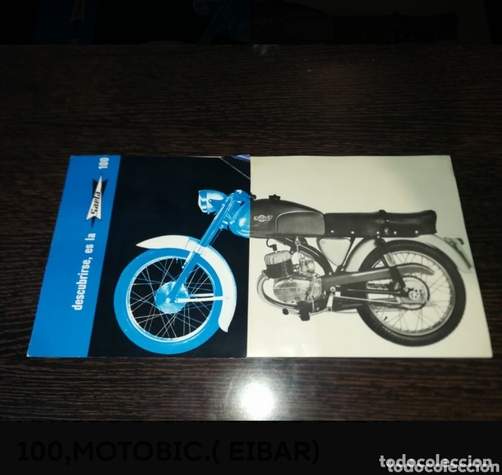 ANTIGUO CATALOGO SAETA 100,MOTOBIC.( EIBAR) (Coches y Motocicletas Antiguas y Clásicas - Catálogos, Publicidad y Libros de mecánica)