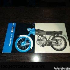 Coches y Motocicletas: ANTIGUO CATALOGO SAETA 100,MOTOBIC.( EIBAR). Lote 174194958