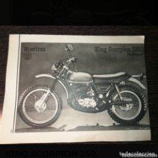 Coches y Motocicletas: PUBLICIDAD ANTIGUA MONTESA KING SCORPION 250.. Lote 174194984