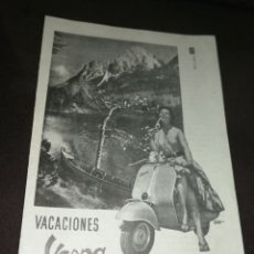 Coches y Motocicletas: VESPA,ANTIGUA PUBLICIDAD 1957 MÁS EN MI PERFIL.. Lote 174195320