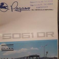Coches y Motocicletas: PEGASO AUTOCAR 5061 DR CATALOGO. Lote 174423305