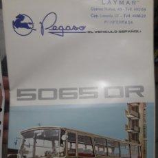 Coches y Motocicletas: PEGASO AUTOCAR 5065 CATALOGO. Lote 174423313