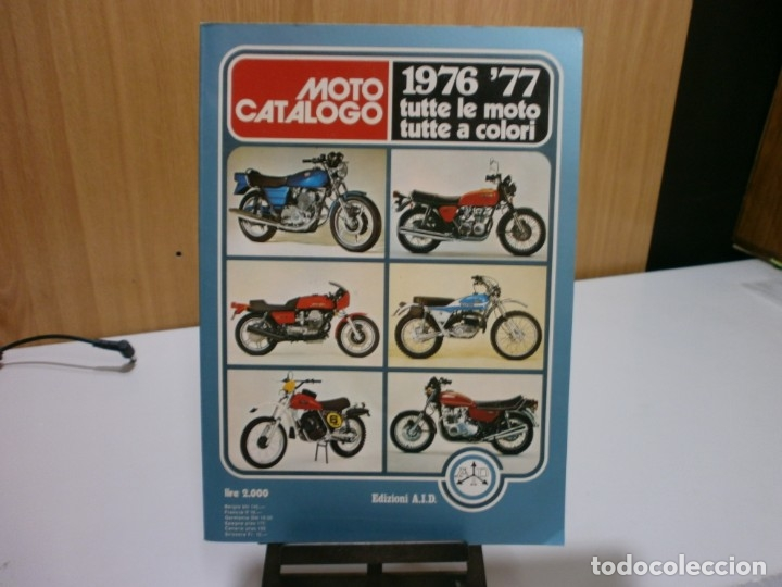 REVISTA MOTO CATALOGO 1976 77 (Coches y Motocicletas Antiguas y Clásicas - Catálogos, Publicidad y Libros de mecánica)