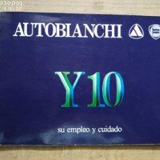 Coches y Motocicletas: MANUAL AUTOBIANCHI LANCIA Y10. Lote 175440507