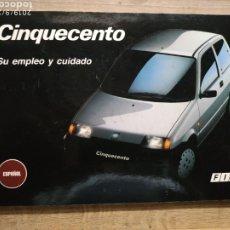 Coches y Motocicletas: MANUAL FIAT CINQUECENTO 94 EN ESPAÑOL. Lote 175443065