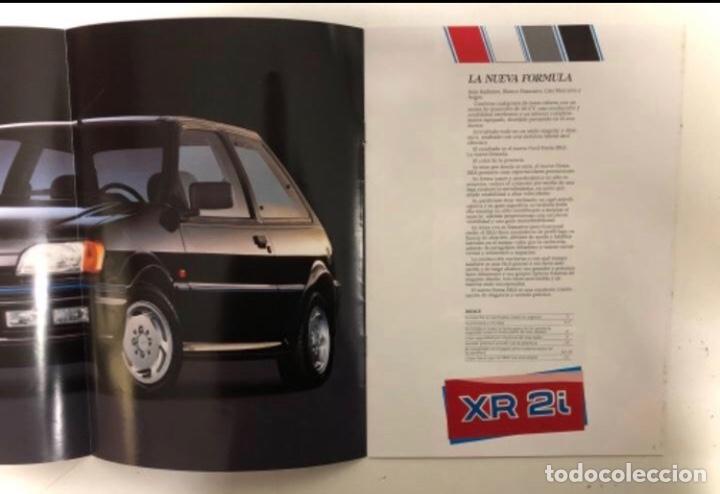 Coches y Motocicletas: FORD FIESTA XR2i. CATÁLOGO PUBLICITARIO 1989. EXCELENTE ESTADO. - Foto 2 - 175449620