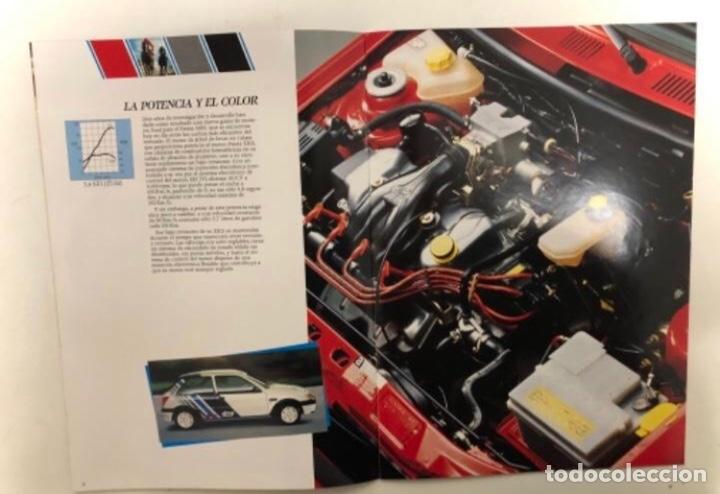 Coches y Motocicletas: FORD FIESTA XR2i. CATÁLOGO PUBLICITARIO 1989. EXCELENTE ESTADO. - Foto 3 - 175449620