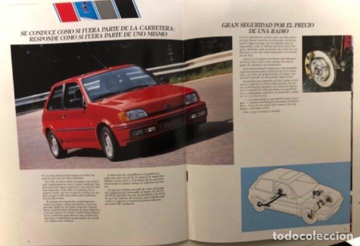 Coches y Motocicletas: FORD FIESTA XR2i. CATÁLOGO PUBLICITARIO 1989. EXCELENTE ESTADO. - Foto 4 - 175449620