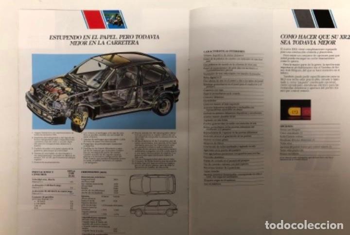 Coches y Motocicletas: FORD FIESTA XR2i. CATÁLOGO PUBLICITARIO 1989. EXCELENTE ESTADO. - Foto 5 - 175449620