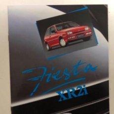 Coches y Motocicletas: FORD FIESTA XR2I. CATÁLOGO PUBLICITARIO 1989. EXCELENTE ESTADO.. Lote 175449620