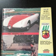 Coches y Motocicletas: ABARTH AOI OWNERS INTERNATIONAL ALFRED COSENTINO BOOKS - 006-90 - FIAT ALFA ROMEO LANCIA. Lote 175463118