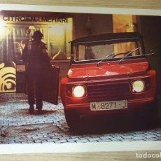 Coches y Motocicletas: CATALOGO - CITROËN MEHARI - 1972. Lote 175553837