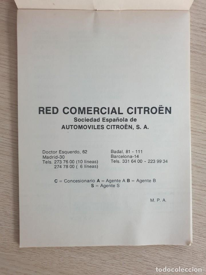 Coches y Motocicletas: CATALOGO - RED CONCESIONARIOS CITROËN - 1976 - Foto 3 - 175613865