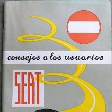 Coches y Motocicletas: MANUAL SEAT - CONSEJOS A LOS USUARIOS - 2ª EDICIÓN. Lote 175730123