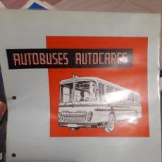 Coches y Motocicletas: BARREIROS AEC, FICHA TECNICA AUTOBUS A301. Lote 175800554