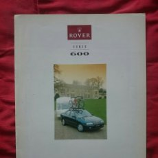 Coches y Motocicletas: CATÁLOGO ROVER 600 ACCESORIOS. Lote 175896029