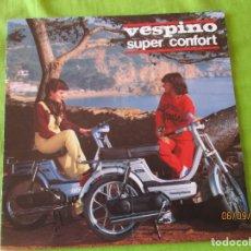 Coches y Motocicletas: VESPINO. SUPER CONFORT. (MOTO VESPA ) AÑO 1980. CATALOGO DE 8 PAGINAS. (MUY BUENA CONSERVACION). Lote 175998769