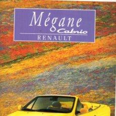 Coches y Motocicletas: CATALOGO RENAULT MEGANE CABRIO MAYO 1997. Lote 176125274