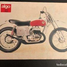 Voitures et Motocyclettes: BULTACO ASTRO 250 - LAMINA ANUNCIO PAGINA RECORTE REVISTA ALGO AÑOS 70 ORIGINAL - NO CATALOGO MANUAL. Lote 176135834