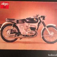 Voitures et Motocyclettes: BULTACO MERCURIO - LAMINA ANUNCIO PAGINA RECORTE REVISTA ALGO AÑOS 70 ORIGINAL - NO CATALOGO MANUAL. Lote 176135933
