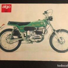 Voitures et Motocyclettes: BULTACO BRINCO 74 - LAMINA ANUNCIO PAGINA RECORTE REVISTA ALGO AÑOS 70 ORIGINAL - NO CATALOGO MANUAL. Lote 176135969
