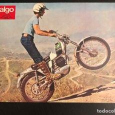 Voitures et Motocyclettes: OSSA TRIAL 250 MICK ANDREWS REPLICA - LAMINA ANUNCIO PAGINA RECORTE REVISTA ALGO AÑOS 70 ORIGINAL. Lote 176136050