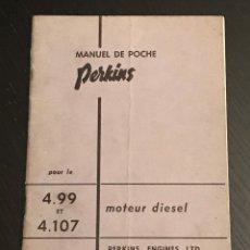 Coches y Motocicletas: PERKINS MOTOR DIESEL 4.99 - 4.107 - MANUAL USUARIO LIBRO INSTRUCCIONES - MAYO 1962 - EN FRANCES. Lote 176136567