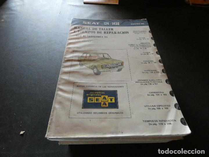 MANUAL DE TALLER Y TIEMPOS DE REPEARACION SEAT 124-1430 ENERO 80 (Coches y Motocicletas Antiguas y Clásicas - Catálogos, Publicidad y Libros de mecánica)