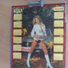 Coches y Motocicletas: CALENDARIO DE PUBLICIDAD DE 1974 DE ACEITE. Lote 176276337
