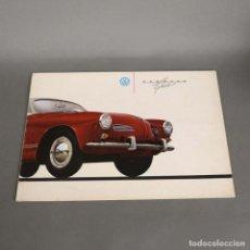 Coches y Motocicletas: FOLLETO DE VENTAS DEL VOLKSWAGEN KARMANN GHIA. 1956 - 1965 (BRD). Lote 176300223