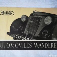 Coches y Motocicletas: CATÁLOGO AUTOMÓVILES WANDERER. Lote 176430188