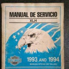 Coches y Motocicletas: HARLEY-DAVIDSON - MANUAL DE SERVICIO OFICIAL DE TALLER MODELOS XLH 1993 - 1994. Lote 176507245