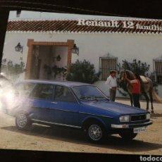 Coches y Motocicletas: CATÁLOGO ORIGINAL RENAULT 12 FAMILIAR. Lote 176522272
