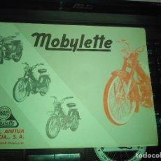 Carros e motociclos: CATALOGO GENERAL DESPIECE ORIGINAL CICLOMOTOR MOBYLETTE GAC GARATE ANITUA Y CIA. Lote 176532615