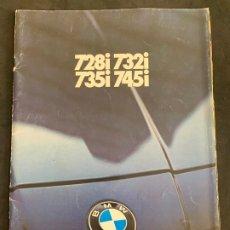 Coches y Motocicletas: CATALOGO PUBLICIDAD FOLLETO ORIGINAL DE 1982 BMW 728I 732I 735I 745I. Lote 176561425