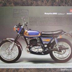 Coches y Motocicletas: PUBLICIDAD MONTESA RAPITA 250 Y MONTESA KING SCORPION 250. Lote 176602519